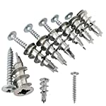 Ansoon Zinc Self-Drilling Drywall Anchors with Screws Kit, 50 Pieces All Together