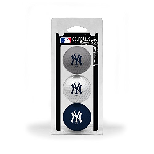 York Yankees New Ball (Team Golf MLB New York Yankees 3 Golf Ball Pack)