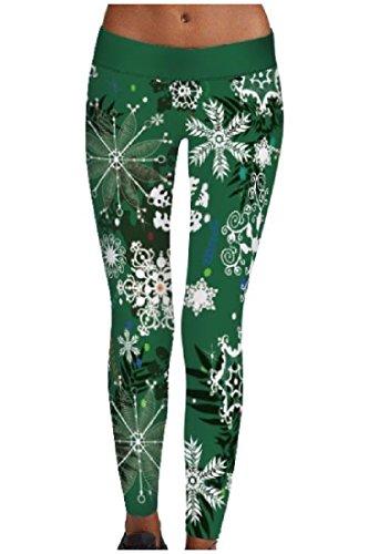 Abetteric Women Plus Size Digital Printed Yoga Christmas Day Yoga Leggings supplier