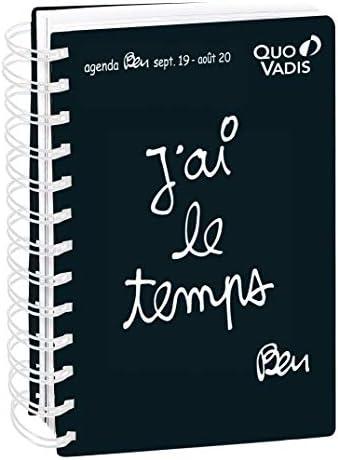 Quo Vadis Ben TEXTAGENDA 21 Spiral/é Agenda scolaire Journalier 15x21cm Ann/ée 2019-2020