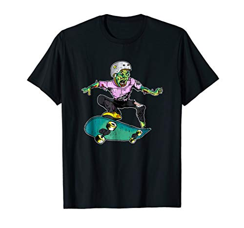 Zombie Teen Halloween Shirt Skateboarder Costume Kids -