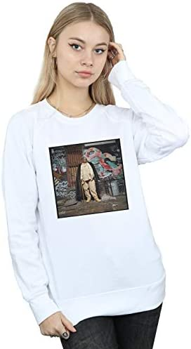 Notorious Big Damen Fur Coat Sweatshirt Weiß Small