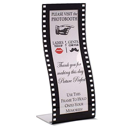 Hollywood Photo Frame (Photo Booth Frames - 2x6 Acrylic Wavy Film Curved Hollywood Style (24)