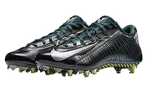 NIKE Vapor Carbon Elite TD Mens Football Cleats Black/Metallic Silver/Dark Atomic Teal cheap sale best wholesale vRkvI114r