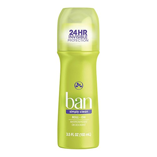 Price comparison product image Ban Roll-On Antiperspirant Deodorant, Simply Clean, 3.5oz