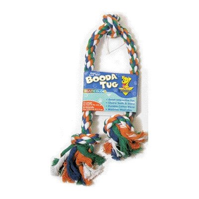 Booda Knot Rope 3 (Three Knot Rope Bone Dog Toy in Red, White and Blue [Set of 2] Size: Large)