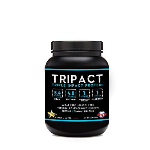 Tripact Protein - Grass Fed Whey Protein - Cold Processed - Vanilla Latte with Cinnamon 1.5lb