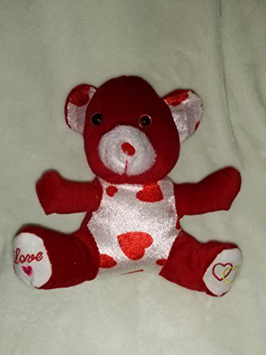 7.5' Heart (Plush Valentine's Day Bear With Love Hearts by Toymax 7.5'' Inches)