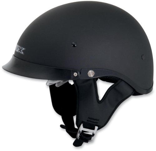 met with Dual Inner Lens , Size: XL, Primary Color: Black, Helmet Category: Street, Helmet Type: Half Helmets, Distinct Name: Flat Black, Gender: Mens/Unisex 0103-0737 (Afx Beanie Half Helmet)
