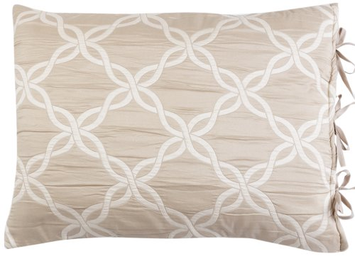 Stylemaster Home Products Renaissance Home Fashion Belmont Reversible Sham, Standard, Natural
