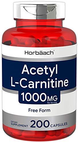 Acetyl L-Carnitine 1000 mg 200 Capsules | ALCAR | Non-GMO