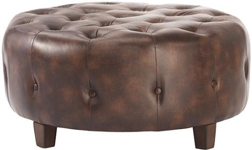 "Farrow Round Tufted Ottoman, 17""X36""WX36""D, BONDED for sale  Delivered anywhere in USA"