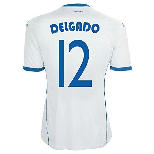 リマーク副詞スキッパーJoma Delgado #12 Honduras Home Jersey World Cup 2014/サッカーユニフォーム ホンジュラス ホーム用 ワールドカップ2014 背番号12 デルガド