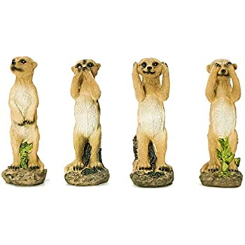 Meerkat Family Ornament Statue Home Decoration Sculpture Figurine or Gift