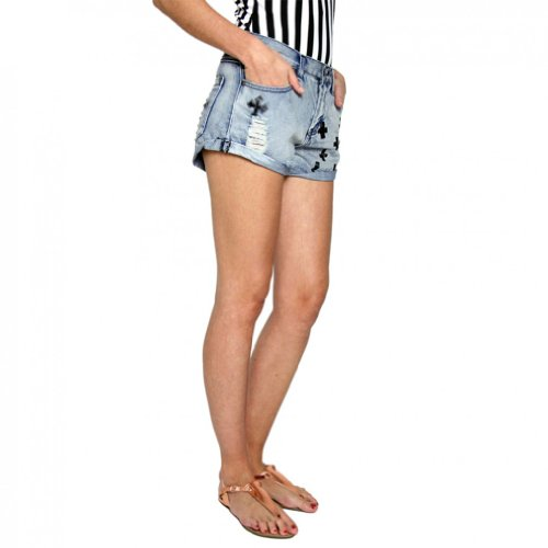 all about eve Damen Jeans Hotpants Shorts Jeansshorts RELIGIOUS