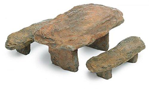 "Marshall Home and Garden ""Slate Table & Bench"" Miniature Fairy Garden Accessory #MG21"