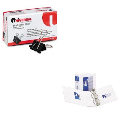 KITAVE09901UNV10200 - Value Kit - Avery Durable View Binder with Two Booster EZD Rings (AVE09901) and Universal Small Binder Clips (UNV10200)
