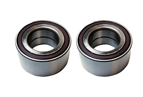 Detroit Axle - Pair (2) Front Wheel Press Bearings for 89-92 Audi 80 2WD & Quattro - [88-91 Audi 90 Quattro/FWD] - 97-01 Audi A4 1.8L 2WD Quattro - [98-05 VW Passat 1.8L] - Check Fitment Chart