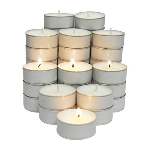 (CandleNScent 5hr Soy Tea Lights Candles|100 Tealight Candles in White Cup - Decorations for Wedding, Birthday, Holiday Party | White Soy Wax in Cups)