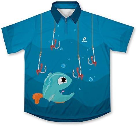 Nom Nom Camisa de Pesca Deportiva -: Amazon.es: Deportes y aire libre