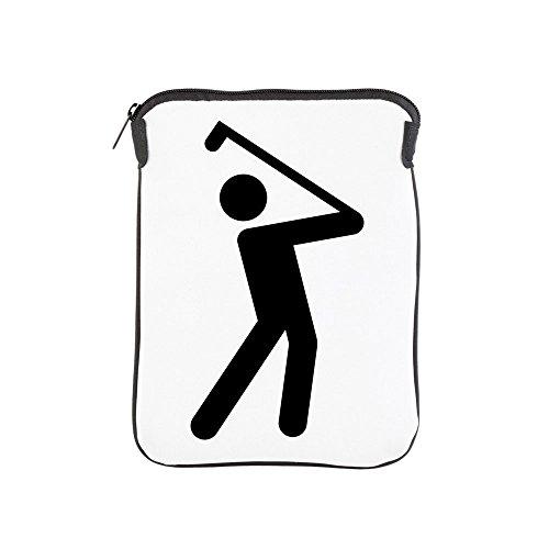 (iPad 1 2 3 4 Air II Sleeve Case (2-Sided) Golf Stroke Swing Traffic Symbol )