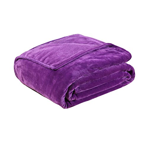 Fleece Blankets for The Bed Extra Soft Brush Fabric Super Warm Sofa Blanket -Purple ,27x39 inch