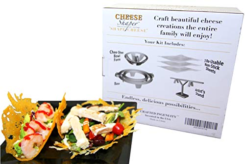 Cheese Shaper Kitchen Gadgets - Unique Kitchen Accessories, Fun Parties Must Have, Quality Teflon Sheets, Cheese Crisper, Instant Meals, Microwaveable, Keto Diet, Great Gift Idea