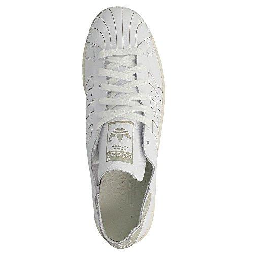 Adidas Superstar Degli Anni 80 Di Decontaminazione Bz0109 Ftw Ftw Bianco / Bianco / Mens Depoca In Bianco Scarpe Da Tennis Casuali Ci 10.5