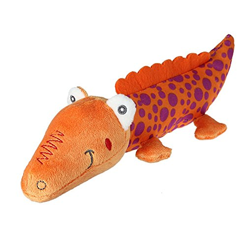 Interessant und kreativ Nettes Plüsch-Krokodil weiche Puppe Sound Toys Geschenke (25cm, Orange)