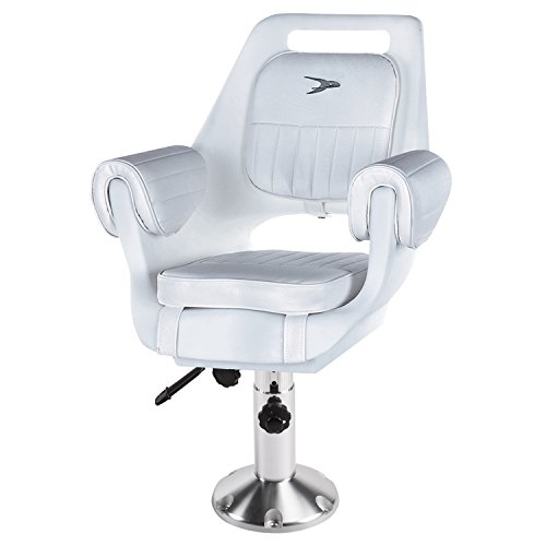 Wise 8WD007-6-710 Rotomolded Pilot Chair with Adjustable Pedestal and Seat Slide, -
