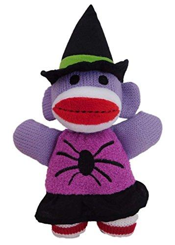 Sweet Sprouts Halloween Sock Monkey Witch Plush Stuffed Animal Pal