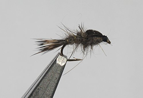 Flies Direct Hares Ear Nymph Assortment 1 Dozen Trout Fishing Flies (Trout Fly Hooks)