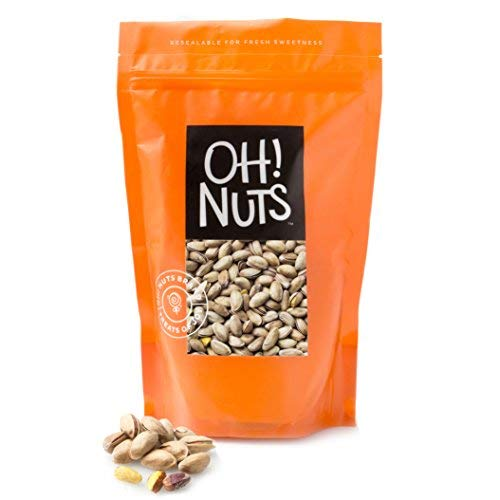 Oh! Nuts 2 LB Specialty Pistachios Finely Salted | Imported Turkish Antep Pistachios Roasted and Lightly Salted