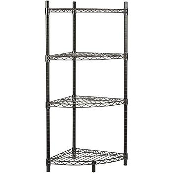 Amazon Com Storagemaniac 4 Tier Corner Storage Rack Shelf