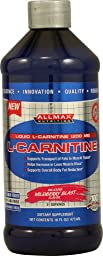 ALLMAX Liquid L-CARNITINE, Delicious Wildberry Blast Flavor, Dietary Supplement, 16oz, 31 Servings