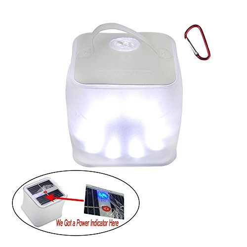 Build Excellent® Christmas Inflatable Waterproof Solar Charging Powered Lantern Light,Christmas Decor Outdoor Emergency LED Camping Light Solar Energy (White)