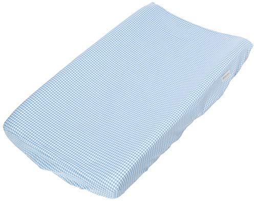Glenna Jean Starlight Changing Pad Cover, Blue Gingham/White