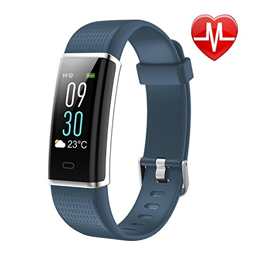 LETSCOM Fitness Tracker, Heart Rate Monitor Watch with Color Screen, IP68 Waterproof, Step Counter, Calorie Counter, Sleep Monitor, Pedometer, Smart...