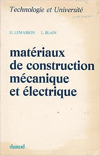 En ligne téléchargement Matériaux de construction mécanique et électrique epub, pdf