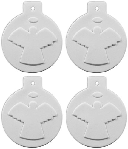 Angel Ornament - Set of 4 - Paint Your Own Ceramic Keepsake