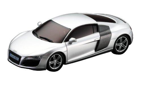 Kyosho-D1431010101-DSLOT43-Audi-R8-Coche-de-carreras-en-miniatura-escala-143-plateado