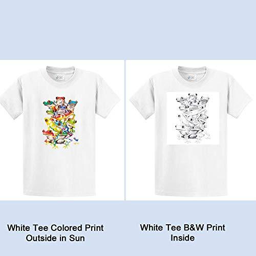 Color Changing Balancing Frogs Mens T Shirt Regular - Big and Tall - Clothing Frogman