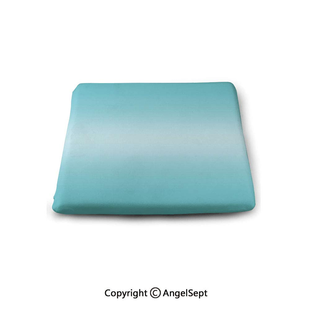 oobon Square Chair Seat Cushion for Kitchen Dining Chairs,Ombre,Open Blue Sky on a Spring Day Inspired Blue Colored Modern Design Room Decorations,Turquoise,Memory Butt Pad Non Slip