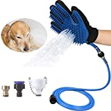 Pet Bathing Tool Dog Shower Sprayer Scrubber Grooming Glove 3 4 Faucet Adapters Dog Cat Horse Indoor Outdoor Use