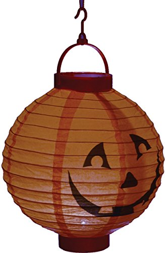 Light Up LED Pumpkin Jack O Lantern Theme Halloween Hanging Paper Mini -