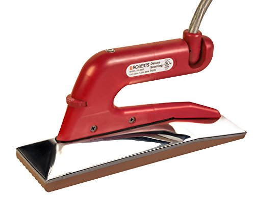 Roberts 10-282G-2 Deluxe Heat Bond Carpet Iron with Non-Stick Grooved Base by Roberts