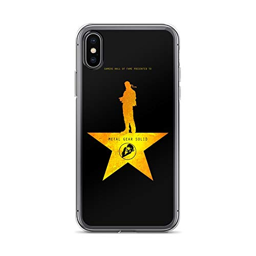 iPhone X/XS Case Anti-Scratch Gamer Video Game Transparent Cases Cover Metal Gear Solid Wall of Fame Gaming Computer Crystal Clear
