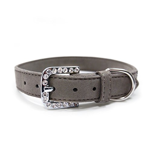 Dogo VIP Bling Dog Collar - Gray/Small