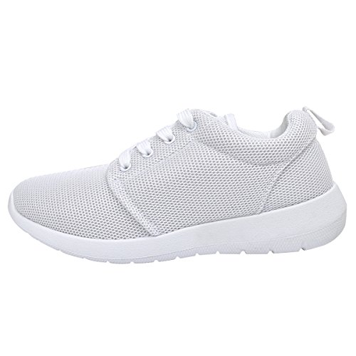 vidaXL Scarpe da corsa per donna scarpe per sport tempo libero bianche misura 40