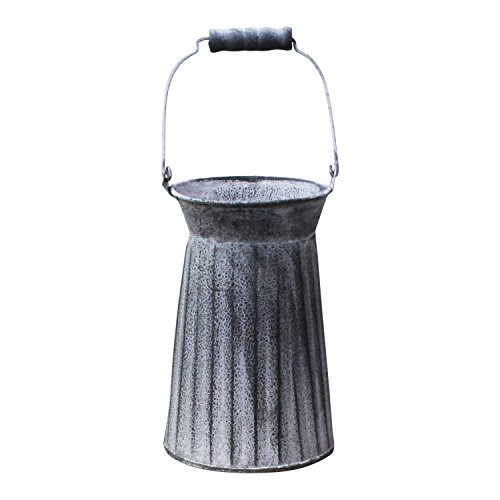 PD Home Metal Fluted Churn Vase with Handle | Farmhouse Style